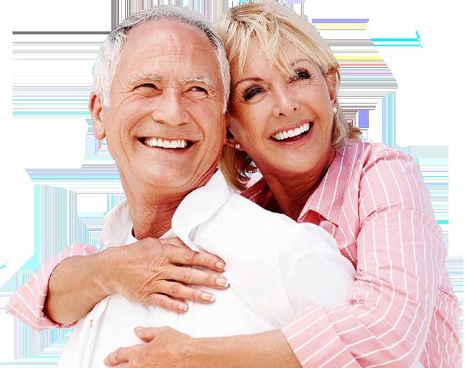 Free denture consultation - senior couple
